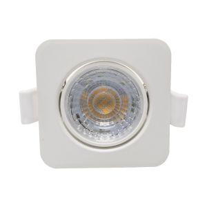 Mini Spotlights Square 8W 4000K 60º Blanco y Plata