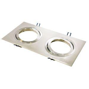 Dúo empotrable de aluminio Serie Zenith de Qualiko para QR111