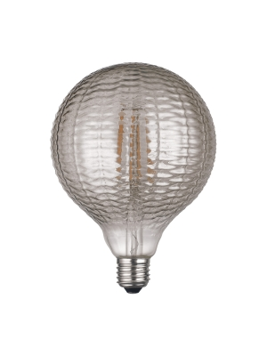 Globo LED Vintage LightED Decó Estriado Gris Fumé