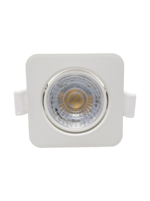 Mini Spotlights Square 8W 4000K 60º Blanco y Plata