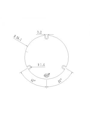 Pad Térmico para Módulo LED de QLT High Voltage Alu Round 230VAC 17,5W