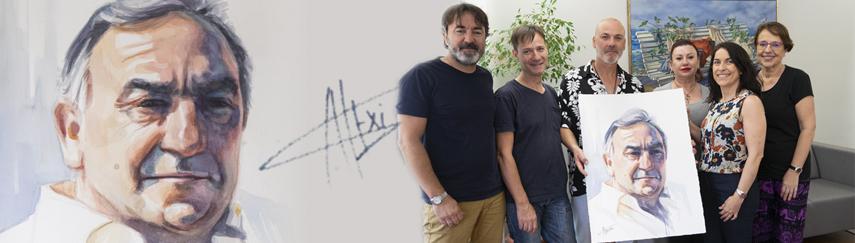 El artista Alexis Alemany retrata al fundador de ALG