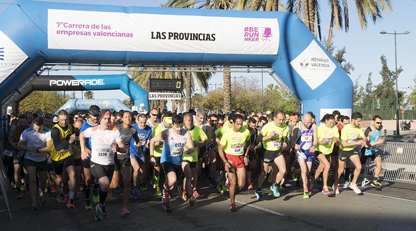 Pistoletazo de salida de la Carrera de las Empresas Valencianas 2018