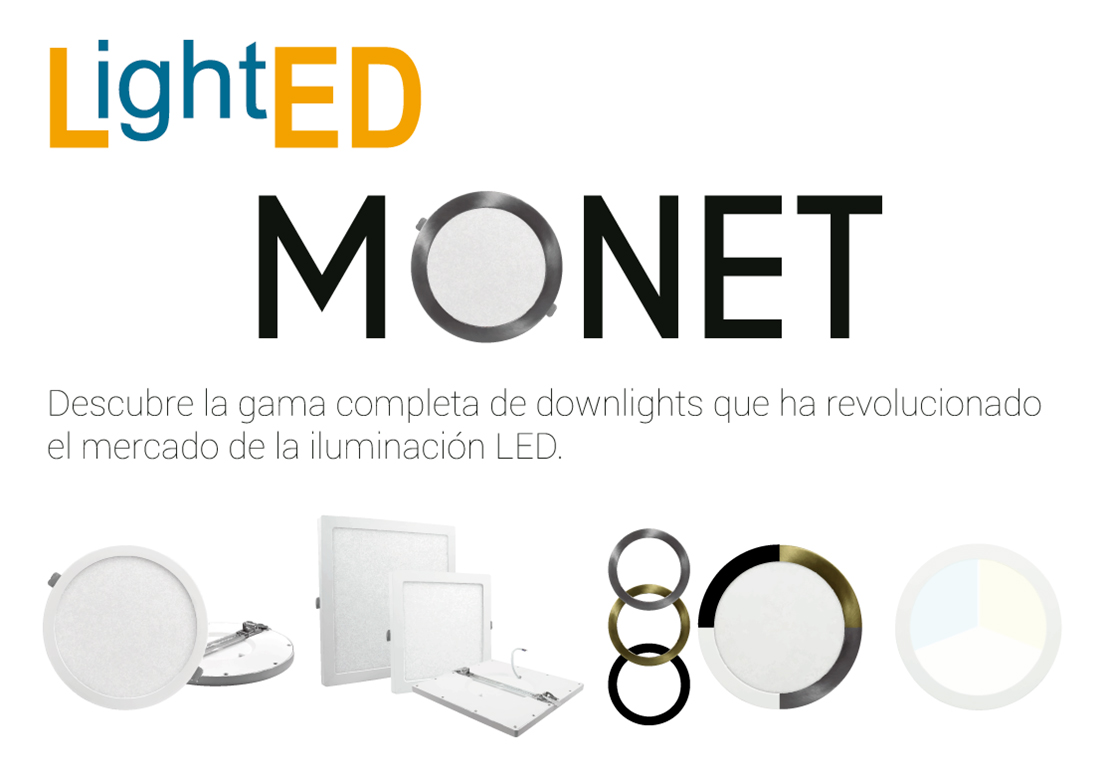 Downlights Monet: Descubre la gama completa de downlights que ha revolucionado el mundo del LED.