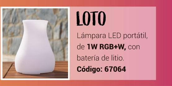Lámpara LOTO RGB de la Serie Namasté