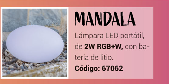 Lámpara Mandala RGB de la Serie Namasté