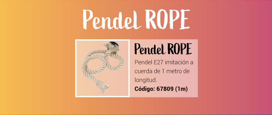 Pendel Rope de imitación a cuerda