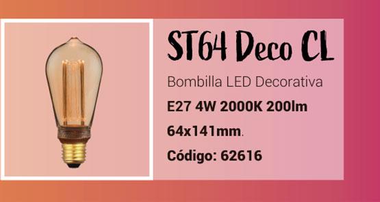 Bombilla ST64 LED Deco de la Serie Classic
