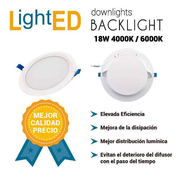 Downlights Backlight de 18W