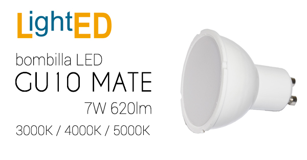 GU10 LED de 7W Mate