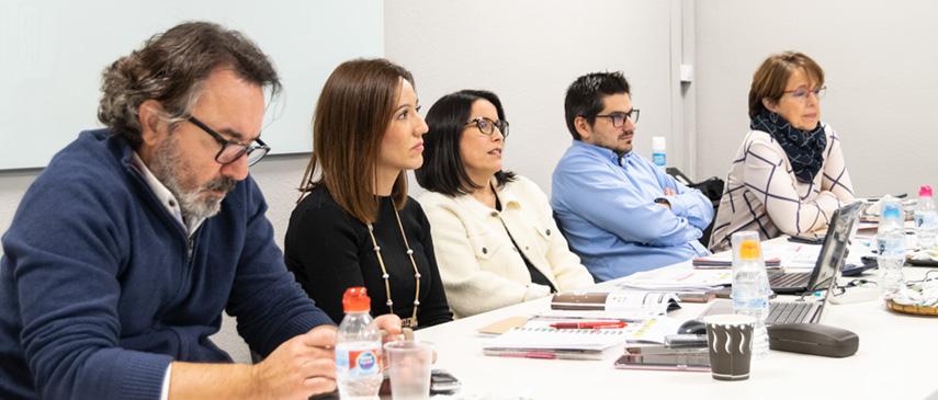 Jose Antonio López, Beatriz Polo, Mari Carmen Tomillo, Jorge Lahuerta y Elena Diego