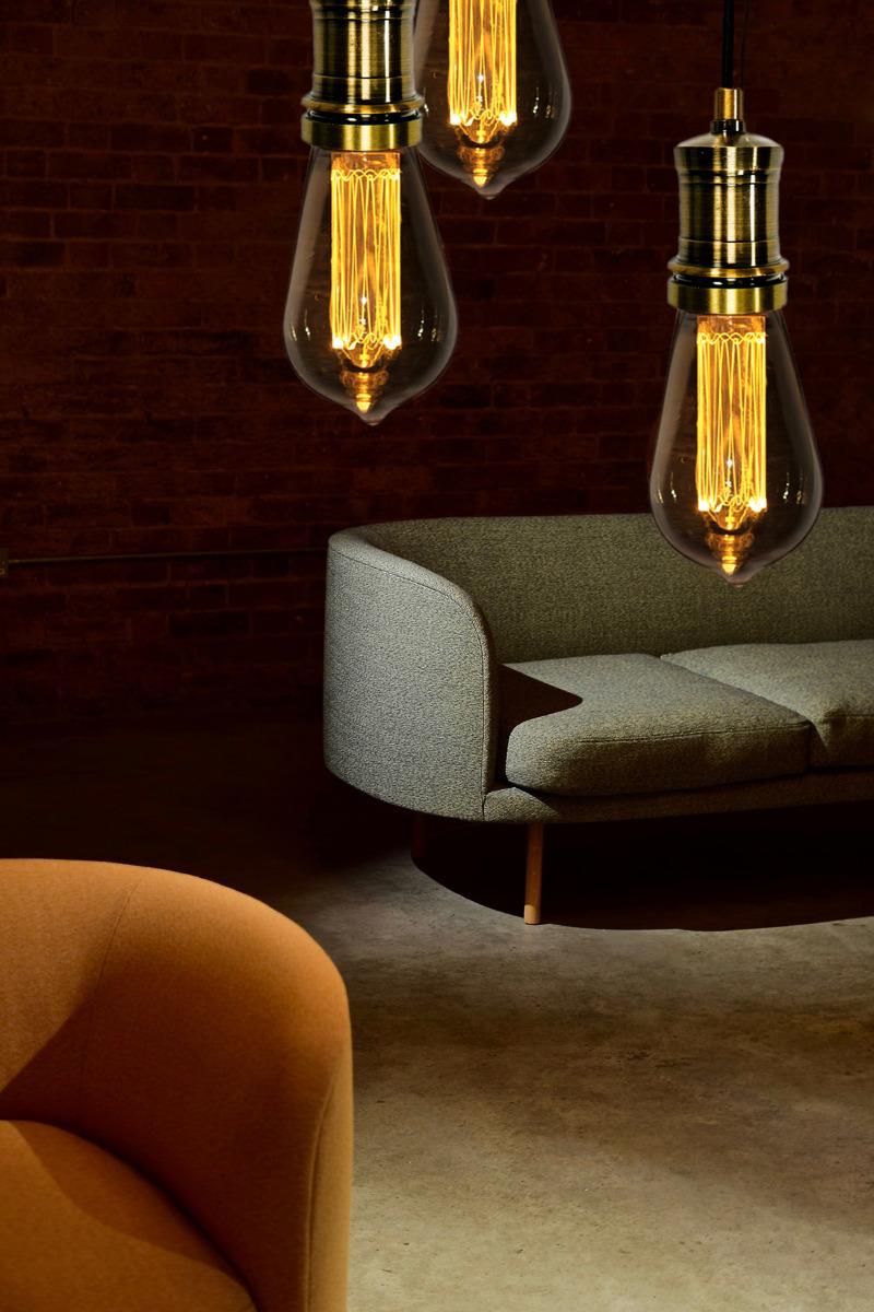 Bombillas Decorativas LightED Decó Serie Classic coldando de pendels Latón