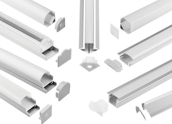 Perfiles y difusores para tiras LED