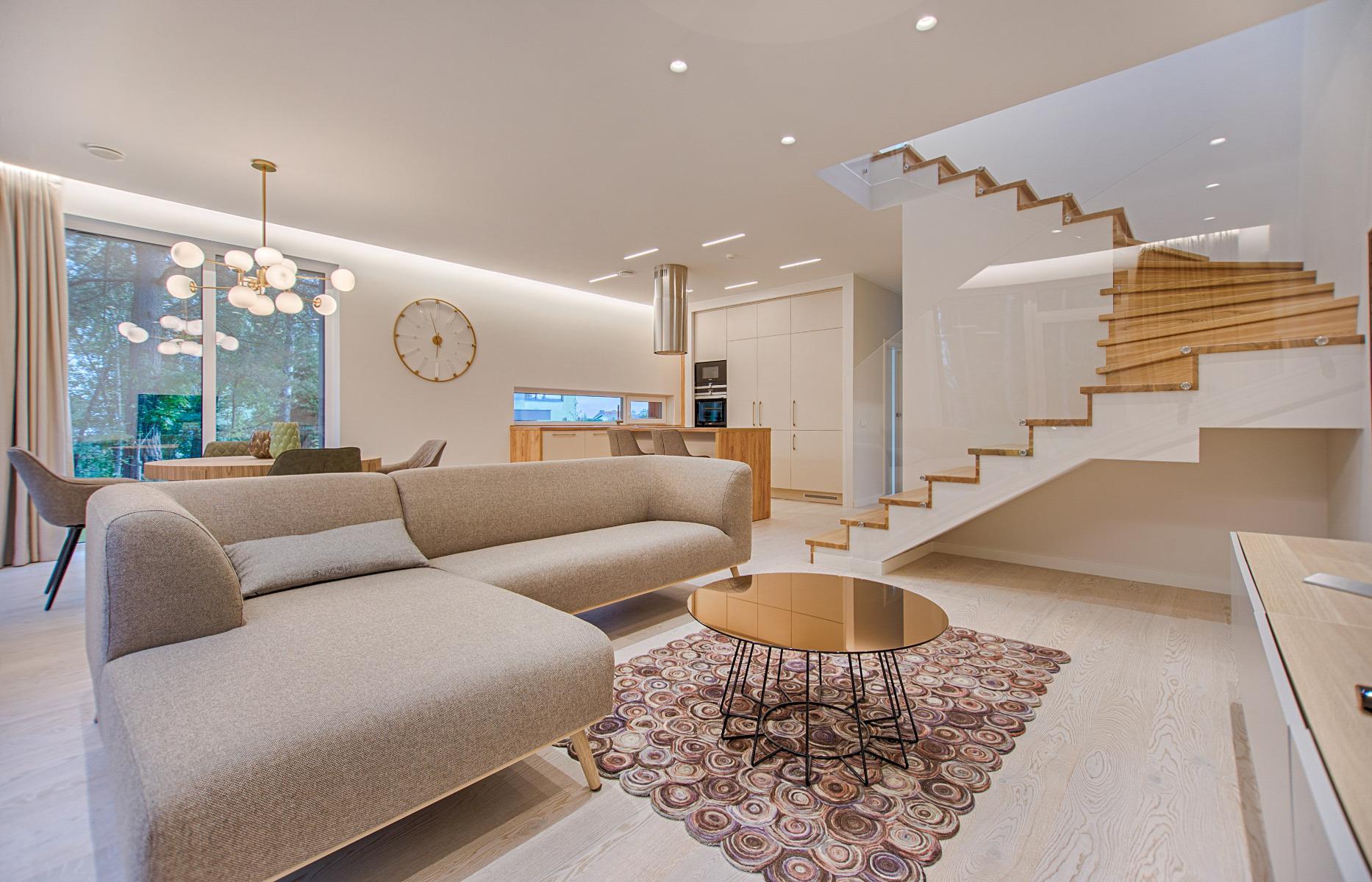 Salón decorado con la tendencia Art Decó