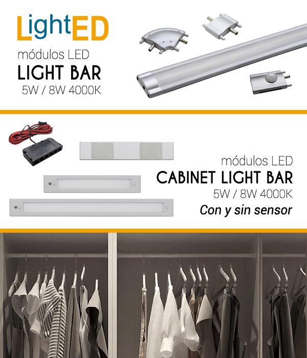 Nuevos Módulos LED para iluminación de armarios y cocinas