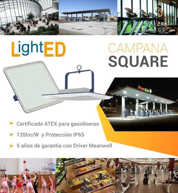 Campana Square con certificado ATEX