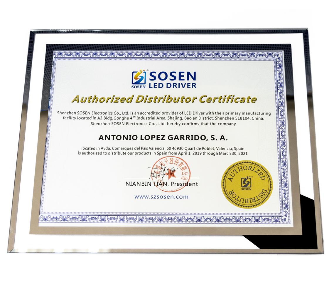 Acuerdo de distribución entre ALG y Sosen