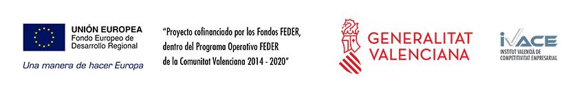Proyecto cofinanciado por los Fondos FEDER, dentro del Programa Operativo FEDER de la Comunitat Valenciana 2014-2020