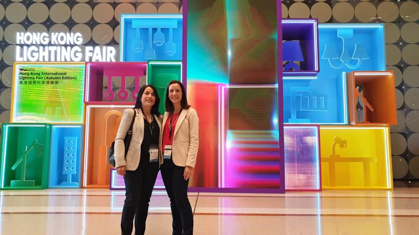 Mari Carmen Tomillo y Beatriz Polo asistieron a la Hong Kong International Lighting Fair
